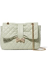 Red Valentino Redvalentino Quilted Faux Leather Shoulder Bag Mint