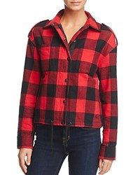 Moose Knuckles Hartley Flannel Jacket Red Plaid