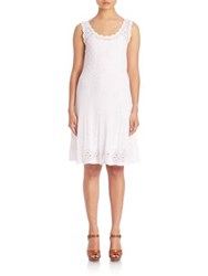 Polo Ralph Lauren Crocheted Fit And Flare Dress White