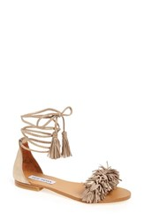 Steve Madden Women's 'Sweetyy' Lace Up Sandal Gold Leather