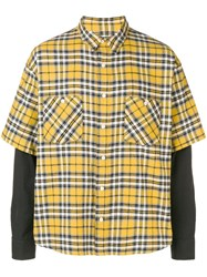 Adaptation Layered Sleeve Shirt Yellow And Orange