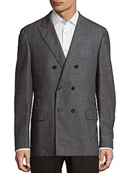 Brunello Cucinelli Long Sleeve Wool Blend Coat Grey