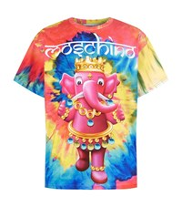 Moschino Psychedelic Elephant Oversized T Shirt Male Multi