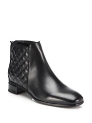 Aquatalia By Marvin K Lacey Quilted Leather Ankle Booties Black