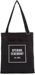 Opening Ceremony Black Classic Logo Tote