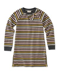Kate Spade Metallic Stripe Dress W Zip Hem Multi