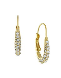 Cole Haan Oval Hoop Glitz Earrings Gold