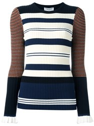 Opening Ceremony Striped Jumper Blue