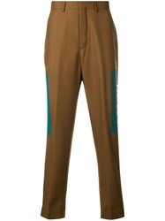 Paura Of Faith Loose Trousers Brown