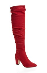 Chinese Laundry Rami Slouchy Over The Knee Boot Lollipop Red