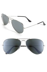 Women's Ray Ban 'Original Aviator' 58Mm Sunglasses Silver Mirror