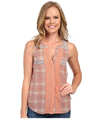 Sanctuary Collage Craft Top Vintage Springs Patchwork Women's Clothing Pink