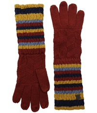 Smartwool Striped Chevron Glove Moab Rust Wool Gloves Red