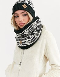 The North Face Chunky Tube Scarf In Black White