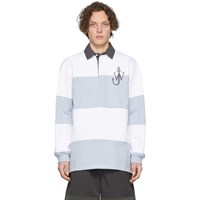 J.W.Anderson Jw Anderson White And Blue Rugby Polo