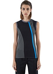 Paco Rabanne Sleeveless Jersey Mix Top Black