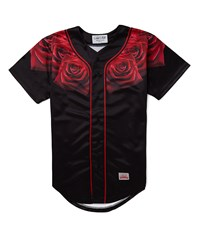 Sik Silk Siksilk Red Rose Baseball Jersey Black