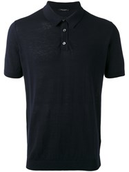Roberto Collina Knit Polo Shirt Blue