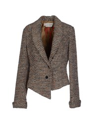 Manila Grace Denim Suits And Jackets Blazers Women Beige