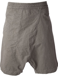 Lost And Found Rooms Drop Crotch Shorts Grey