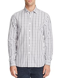 Bloomingdale's The Men's Store At Tonal Plaid Classic Fit Button Down Shirt Grey