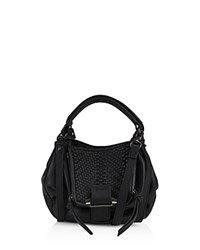 Kooba Jonnie Mini Leather Crossbody Black Gunmetal