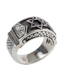 Konstantino Men's Sterling Silver Star Of David Ring