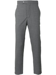 Moncler Gamme Bleu Classic Tailored Trousers Grey