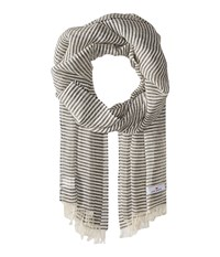 Love Quotes Linen Cotton Narrow Stripe Chalkboard White Scarves Gray