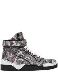 Givenchy Tyson Paisley Leather High Top Sneakers