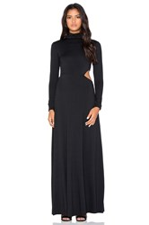 Rachel Pally X Revolve Turtleneck Side Cutout Maxi Dress Black