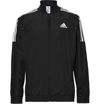 Adidas Sport Club Jersey Panelled Climacool Tennis Jacket Black