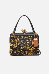 Coach 1941 X Opening Ceremony Oc Exclusive East West Frame Haircalf Print Handbag Yellow Floral