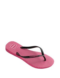 Havaianas Slim Retro Rubber Thong Sandals Orchid Rose