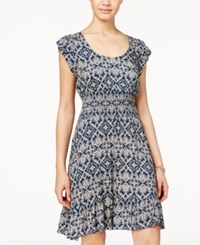 American Rag Printed Smocked Ruffle Hem Dress Only At Macy's Bombay Tile