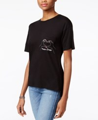 Guess Main Baes Graphic T Shirt Jet Black