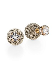 Natasha Front To Back Chain Wrapped Earrings Silver Gold