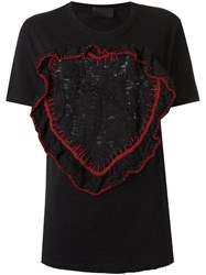 Andrea Bogosian Embroidered T Shirt Black