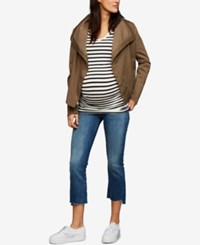 A Pea In The Pod Maternity Draped Twill Jacket Olive
