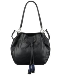 Nine West Take A Lift Bucket Bag Black Moody Blue