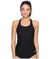 Speedo Fit Tankini Top Black Women's Swimwear
