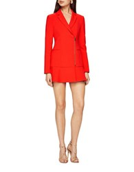 Bcbgmaxazria Aryn Flounce Dress Bright Red