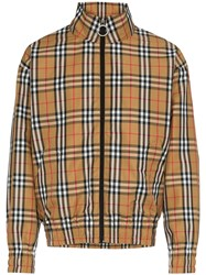 Burberry Classic Check Bomber Jacket Brown