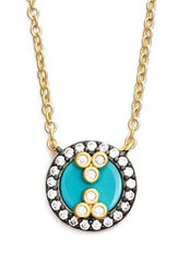 Freida Rothman 'Visionary' Pendant Necklace Gold Turquoise
