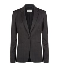 Boss Womenswear Jabina2 Check Wool Blazer Female Dark Grey