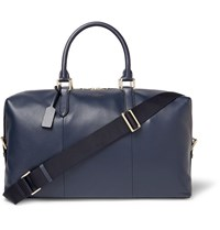 Smythson Burlington Full Grain Leather Holdall Navy
