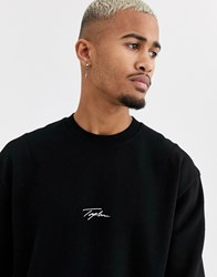 Topman Signature Sweat With Logo In Back Black