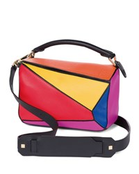 Loewe Puzzle Small Colorblock Satchel Bag Multi