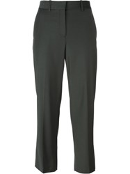 Theory Flared Trousers Green