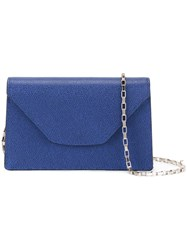 Valextra Mini 'Iside Chain' Crossbody Bag Blue